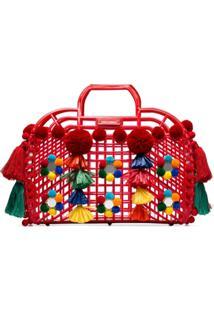 Dolce & Gabbana Bolsa Tote Gomma + Ricamo - Vermelho