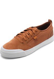 Tênis Couro Dc Shoes Evan Smith Caramelo