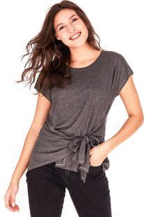 Camisetas Side Walk Camiseta Ari Cinza