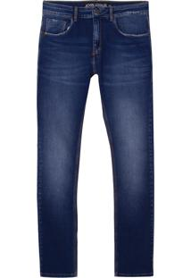 Calça John John Skinny Pureo Jeans Azul Masculina (Jeans Medio, 36)