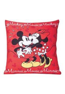 Capa De Almofada Disney Minnie E Mickey Beijo