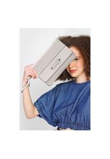 Clutch Calvin Klein Recortes Off-White