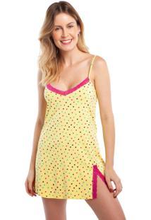 Camisola Curta De Alcinha Heart Com Renda Pink - Tricae
