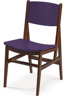 Cadeira Dumon Cacau E Roxo