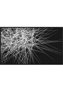 Quadro Decorativo Abstrato- Preto & Branco- 80X60Cm