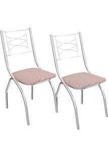 Kit 2 Cadeiras Itália C018 - Kappesberg - Linho Marrom