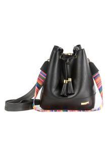 Bolsa Demari Bucket Bag Preta