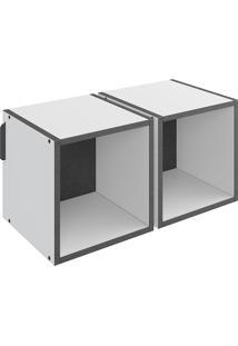 Nicho Duplo Mov – Be Mobiliário - Branco / Carbono