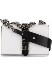 Just Cavalli Logo Shoulder Bag - Branco