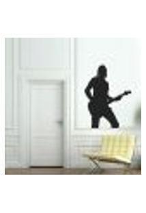 Adesivo De Parede Guitarrista 2 - Pequeno
