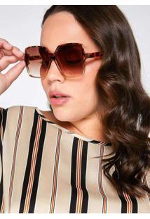 Óculos Almaria Plus Size Dellas Brasil Simple Onça
