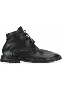 Marsèll Ankle Boot Com Amarração - Preto