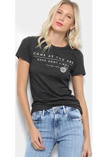 Camiseta Triton Estampada Frase Feminina - Feminino-Preto