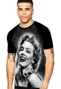 Camiseta Stompy Raglan Modelo 183 Masculina - Masculino-Preto