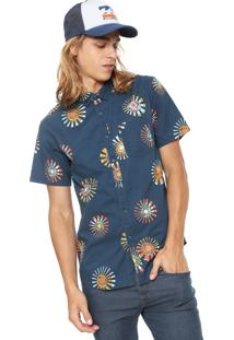 Camisa Billabong Reta Sunday Floral Azul-Marinho