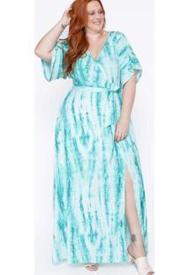 Vestido Longo Almaria Plus Size Sinap Tie Dye Verd