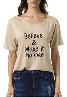 Camiseta Bloom Believe Feminina - Feminino