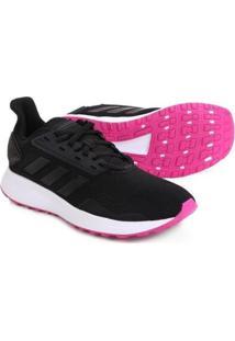 Tênis Adidas Duramo 9 Feminino - Feminino-Preto+Rosa