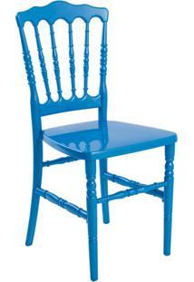 Cadeira De Jantar Dior Resina Azul