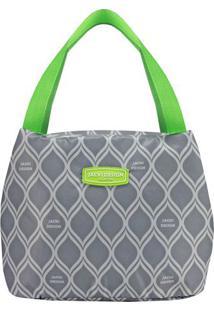 Bolsa Térmica Geométrica- Cinza Verde Limão- 23X19Jacki Design