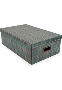 Caixa Organizador Retangular G Xadrez- Verde Escuro & Maboxmania