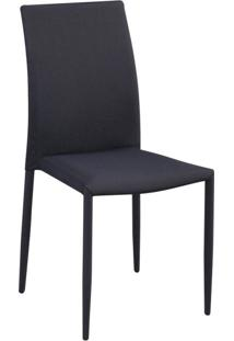 Cadeira De Jantar Amanda Cinza E Preto