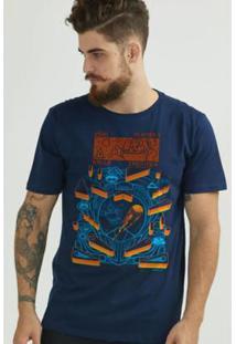 Camiseta Bandup! Turma Da Mônica Astronauta - Masculino-Azul