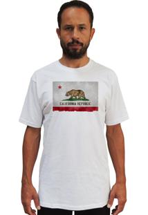 Camiseta Cnx Clothing California Bandeira Branca