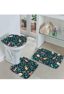 Jogo Tapetes Para Banheiro Cute Color Easter