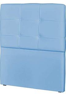 Cabeceira Solteiro Cama Box 90 Cm London Corino Azul Bebê - Js Móveis