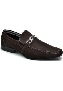 Sapato Social Top Franca Shoes - Masculino-Café