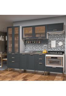Cozinha Completa 6 Peças Americana Multimóveis 5685 Branco/Grafite