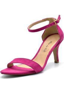 Sandália Gasparini Tiras Camurça Pink