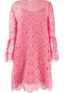 Alberta Ferretti Lace Embroidered Mini Dress - Rosa