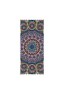 Adesivo Decorativo De Porta - Mandala - 2427Cnpt