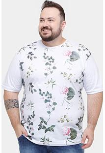 Camiseta Plus Size Local Floral Masculina - Masculino