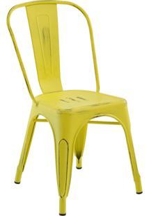 Cadeira Iron Sem Braço Vintage Amarela Rivatti Móveis