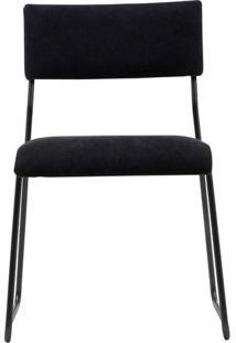 Cadeira Keeper Estofada Lona Base Preta Micro Textura - 35720 - Sun House