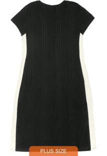 Vestido Midi Feminino Rovitex Plus Size Preto