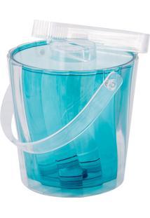 Balde Para Gelo Acrílico Azul
