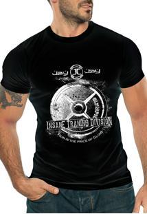 Camiseta Manga Curta Jay Jay Insane Division Preta