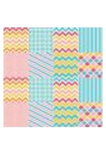 Papel De Parede Autocolante Rolo 0,58 X 3M - Azulejo Listrado Zigzag 286805375