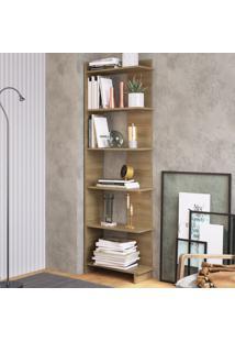 Estante Para Livros 6 Prateleiras Est140 Oak - Completa Móveis
