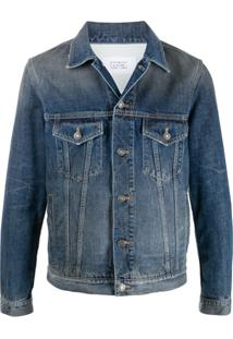 Givenchy Jaqueta Jeans Com Estampa De Logo - Azul