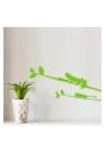 Adesivo De Parede Floral Sapo No Galho - P 61X30Cm