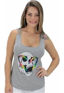Regata Volcom Skull Rainbow Feminina - Feminino