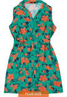 Vestido Verde Curto Floral Wee!
