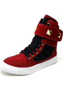 Tênis Cheia De Marra Sneaker Vermelho
