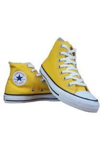 Tênis Bota All Star Chuck Taylor Amarelo Clássico Skate