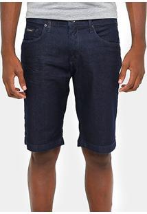 Bermuda Jeans Calvin Klein Super Escura Masculina - Masculino